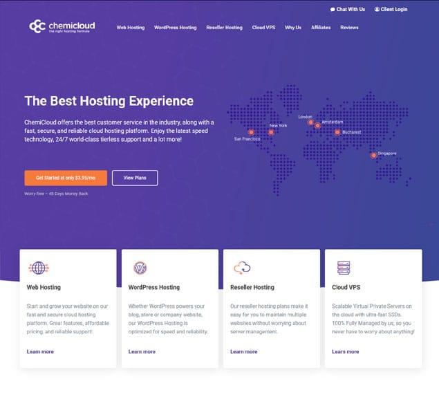 chemicloud web hosting review
